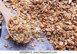 organic homemade granola stock image