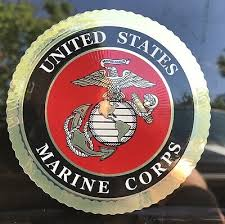 Usmc Us Marine Corps Car Decal Bumper Sticker Round 5x5 Window Emblem Usa Ega Auto Parts And Vehicles Car Truck Graphics Decals Magenta Cl