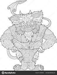 Kleurplaat Boek Met Grappige Cartoon Monster Stockvector