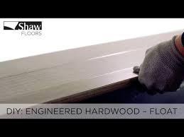 how to install engineered hardwood