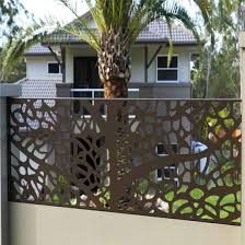 China Metal Door Aluminum Fence Steel Railing Laser Cutting Screen Fence Panel China Aluminum Gate Laser Cutting Gate