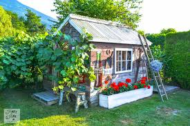 the little rustic garden shed that