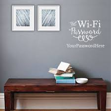 The Wifi Password Sign Guest Wall Sticker Home Decor For Living Room Bedroom Vinyl Wall Decals Removable Mural Wallpaper B694 Wall Stickers Aliexpress