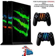 Monster Drink Ps4 Textured Vinyl Protective Skin Decal Wrap Stickers Ebay
