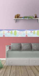 Borders Are A Quick And Easy Way To Add Something Fun To A Kids Room Walls This Princess Themed Border Comp Kids Room Wall Little Girl Bedroom Kids Wallpaper