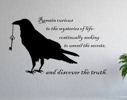 Black Raven Wall Decor Wall Decal Gift For Raven Lover Etsy