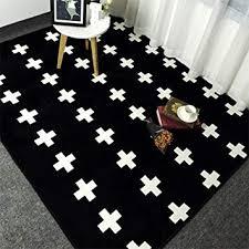 yuguo carpet black white crosses