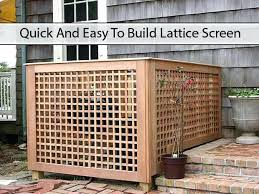 Air Conditioner Screen Diy Sure You Like Living Green And Frugally On And Follow Us On To Be Updated Every Time We Find A G Lattice Screen Patio Design Outdoor