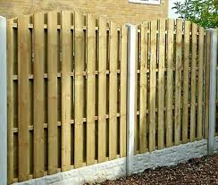 Wooden Fence Panels Hit Miss Hit And Miss Windproof Double Sided Ebay