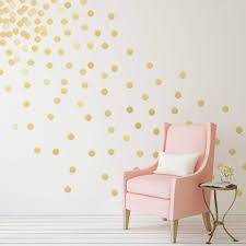 Amazon Com Gold Polka Dots Wall Decals 2 210 Decals Removable Peel And Stick Metall Kids Room Wall Decals Polka Dot Wall Decals Gold Polka Dot Wall Decals