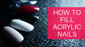 how to fill acrylic nails diy at home