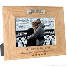 25th wedding anniversary personalised