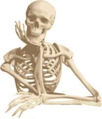 skeleton smiling sitting cartoon