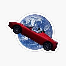 Starman Spacex Stickers Redbubble