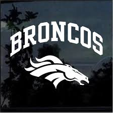 Denver Broncos Window Decal Sticker Custom Sticker Shop