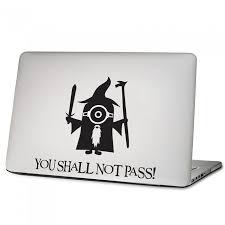 Minions Gandalf You Shall Not Pass Laptop Macbook Vinyl Decal Sticker