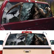 165 56cm Rear Window Graphic Decal Tint Sticker Cemetery Rear Window Sticker For Truck Suv Jeep 22 X65 Large Car Stickers Aliexpress
