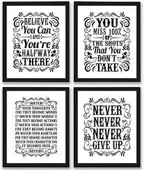 com motivational inspirational quotes art prints pack
