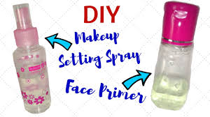homemade face primer and makeup setting