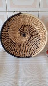 basket small african basket woven wall