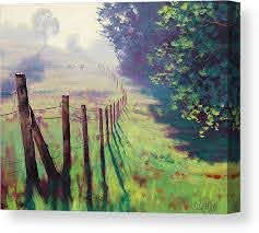 The Fence Line Canvas Print Canvas Art By Graham Gercken