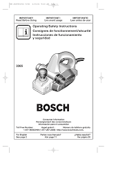 Bosch 3365 3 1 4 Planer W Parallel Guide Fence Specification Manualzz
