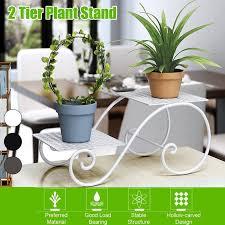 flower pot metal shelves floor standing