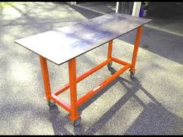 how to build a basic welding table from