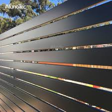 Outdoor Garden Waterproof Aluminium Horizontal Slat Fencing Screen Louver Fence Panels View Aluminium Privacy Slat Louvered Fence Aluminum Aluno Product Details From Dongguan Aluno Industry Co Ltd On Alibaba Com