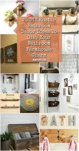 25 diy rustic bathroom décor ideas to