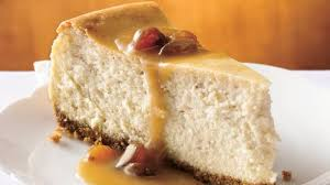 cheesecake with brown sugar rum sauce