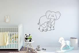 Baby Girl Elephant Wall Vinyl Decal For Pink Art Stickers Australia Nursery Vamosrayos