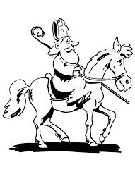 Paard Sinterklaas Kleurplaat Paarden Info