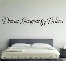 54 Dream Imagine Believe Wall Decal Sticker Art Home Decor Amazon Com