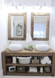 chunky solid wood bathroom sink vanity