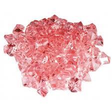 pink acrylic vase filler ice rocks