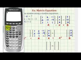 three equations using a matrix equation