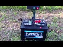 New Fence Charger Battery Powered 15 Mile Zareba With 1 Joule Output Youtube