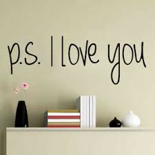 Ps I Love You Quote Vinyl Wall Art Sticker Mural Decal Home Decor Diy Removable Ebay