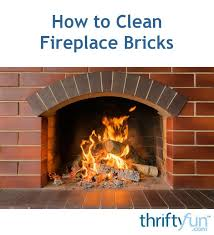 how to clean fireplace bricks thriftyfun