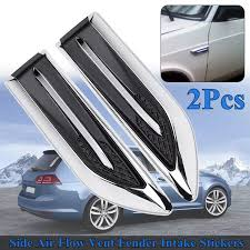 Car Shark Gills Decorated 3d Vent Air Flow Fender Sticker Decal Automobile Engine Cover Side Stickers For Toyota For Honda Car Stickers Aliexpress