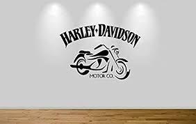 Amazon Com Harley Davidson Motorbike Wall Sticker Decal 1309 Home Kitchen