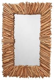 driftwood rectangle mirror beach