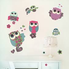Owls Wall Decals Fabric Wall Stickers Not Vinyl Medium Owl Wall Decals Owl Wall Fabric Wall