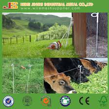 China 4ft Long Cattle Protection Electric Fence Post With Pigtail China Pigtail Post Electric Pigtail Post