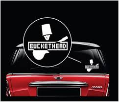 Bucket Head Band Window Decal Sticker Midwest Sticker Shop