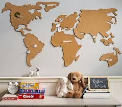 World Map Kids Bulletin Board Pottery Barn Kids