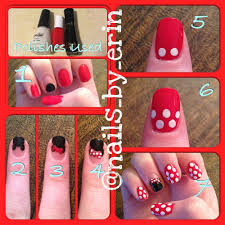 Minnie Mouse nail art tutorial! | Minnie mouse nails, Minnie mouse ...