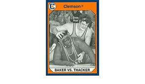 Autograph Warehouse 96883 Duane Baker Vs. Tab Thacker Wrestling ...