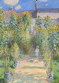 garden at vétheuil by monet poster
